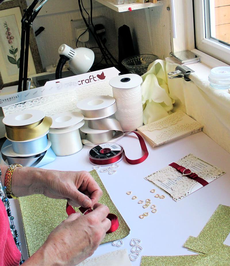 Stationery designing close up