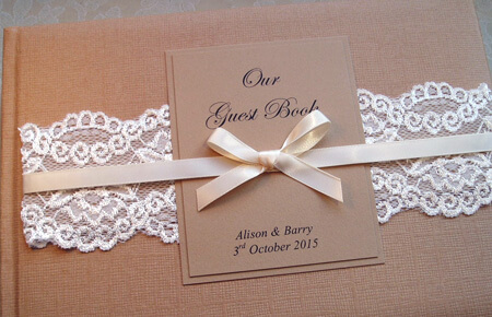 Quills Wedding Stationery guest book