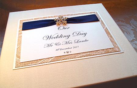 Quills Wedding Stationery keepsake box