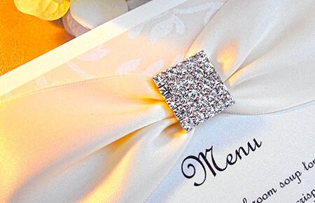 Quills Wedding Stationery menus