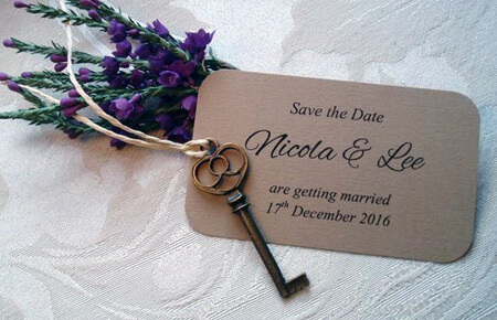 Quills Wedding Stationery save the date